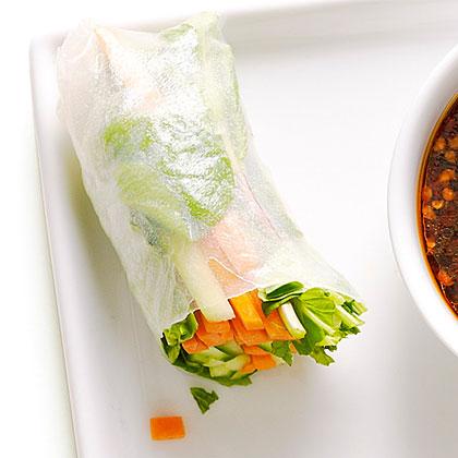 Crunchy Cucumber Summer Rolls Recipe