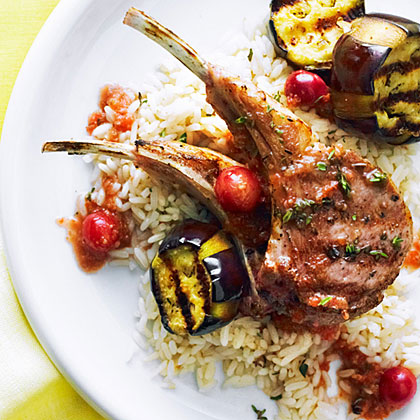Grilled Lamb Chops with Turkish Grape Sauce RecipeChef Burak Epir of Pilita Grill restaurant in San Carlos, California, serves this Turkish-style sauce over lamb meatballs skewered with chunks of eggplant. We've grilled lamb chops instead, for a faster but equally delicious version.