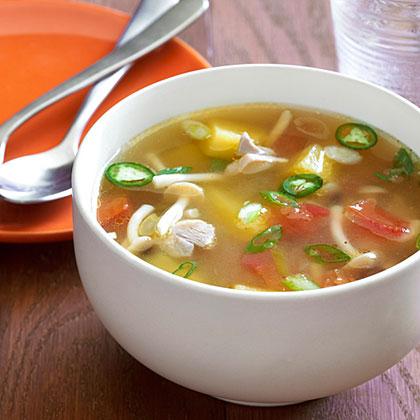 Pineapple Chicken Soup with Lemon Verbena