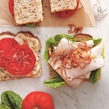 Smoked Turkey Sandwich with Rosemary Marmalade