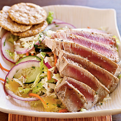 <p>Pan-Grilled Thai Tuna Salad</p>