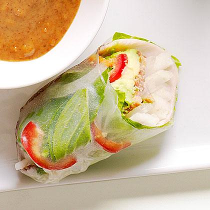 Turkey, Bacon, and Avocado Summer Rolls Recipe | MyRecipes.com