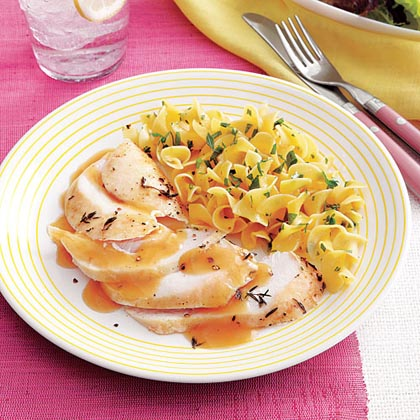 Turkey Breast with White Wine Gravy