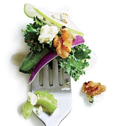 Apple-Walnut Kale Salad