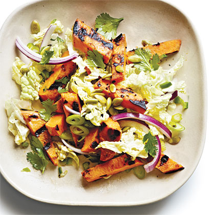 Grilled Sweet Potato and Napa Cabbage Salad with Lime VinaigretteRecipe