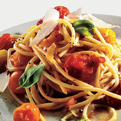 and feta linguine with oven roasted roasted tomato pasta roasted ...