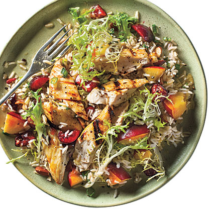 Stone Fruit Chicken-Rice Salad Recipe