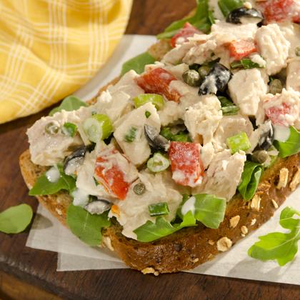 Open-Faced Mediterranean Tuna Sandwich