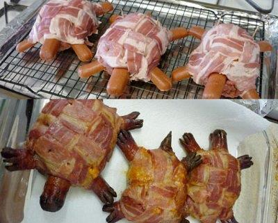 How to Make Bacon Turtle Burgers