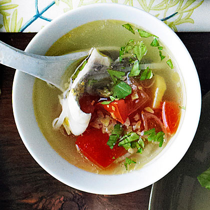 Simple fish soup recipe myrecipes for Fish soup recipes