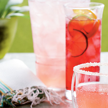 Pink Cadillac Margaritas RecipeCreate this pretty-in-pink version of a margarita with tequila, orange liqueur and cranberry juice.