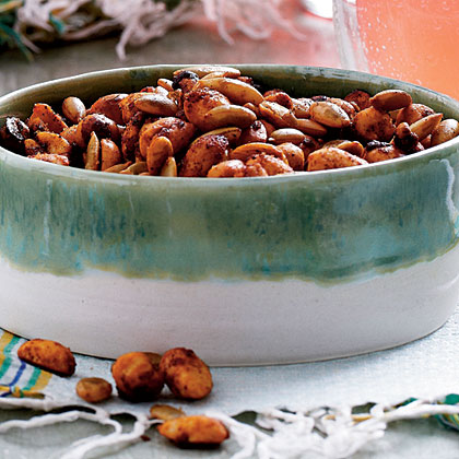Spicy Roasted Chile Peanuts and Pepitas