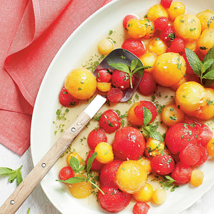 Tipsy Red-and-Yellow Watermelon SaladRecipe