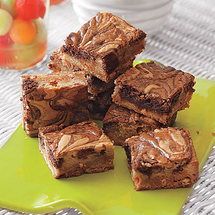 Nutella-Swirl Blondies Recipe | MyRecipes