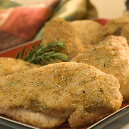 Oven-Fried Herb Chicken Recipe | MyRecipes