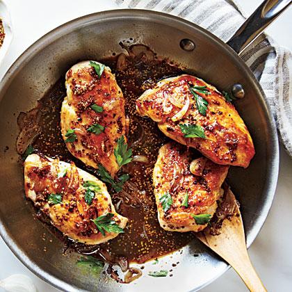 Chicken with Honey-Beer Sauce Recipe