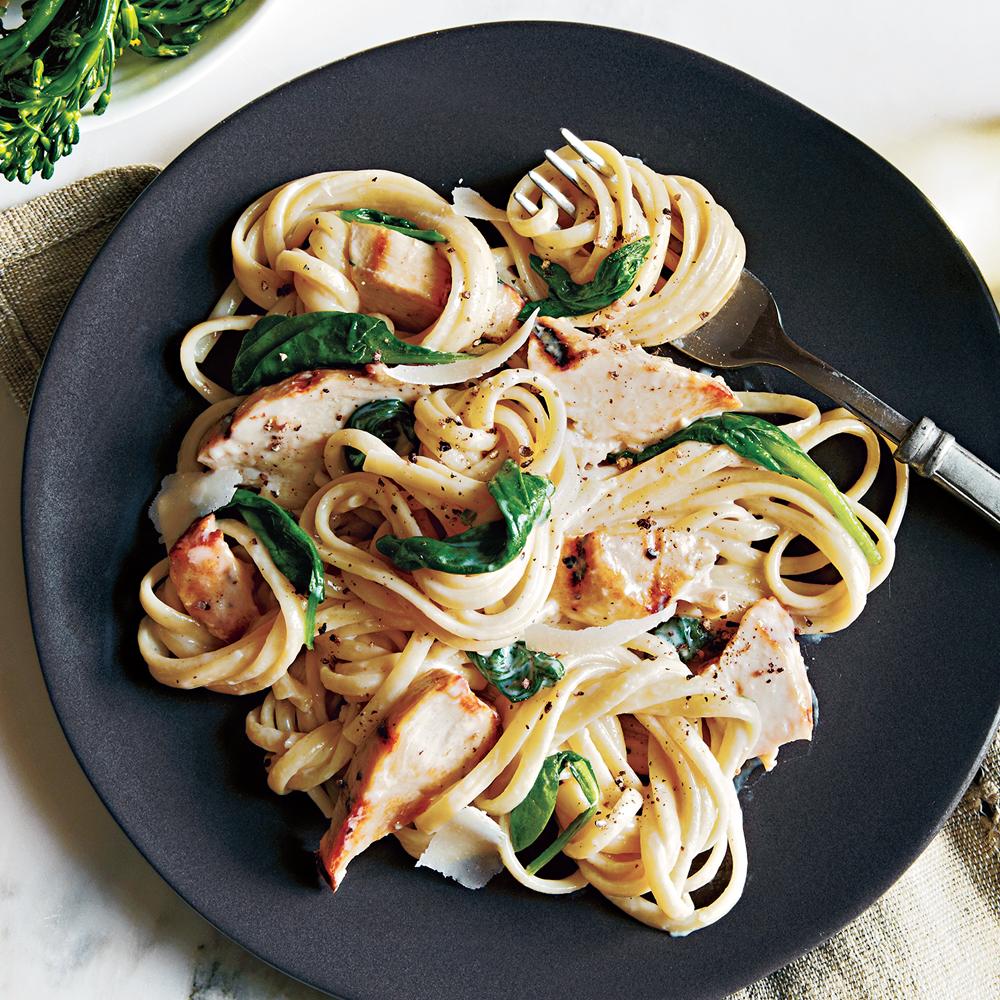 Grilled Chicken Florentine Pasta