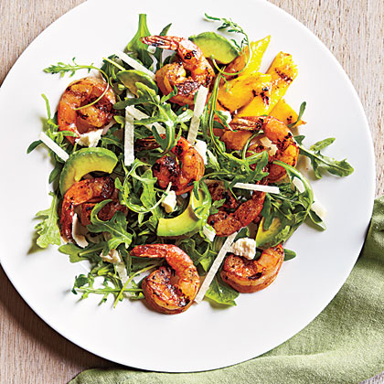 Lemony Grilled Shrimp Salad