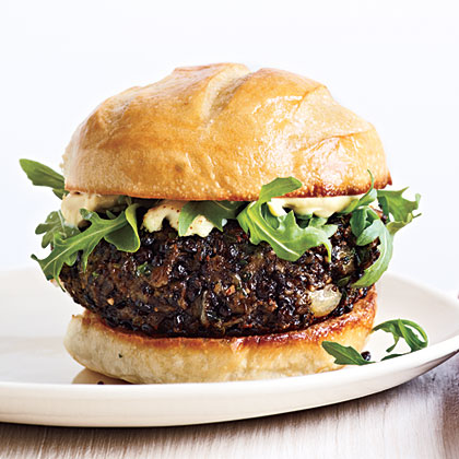 Vegetarian Portobello Mushroom Veggie Burger With Avocados Recipe