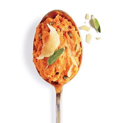 Parmesan-Sage Mashed Sweet Potatoes