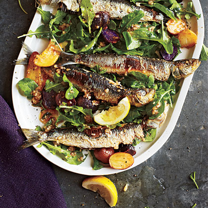 Portuguese Sardine and Potato Salad with Arugula
