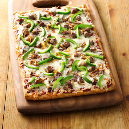 Pillsbury® Philly Cheese Steak Pizza Recipe | MyRecipes