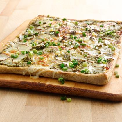 Potato Pesto Pizza