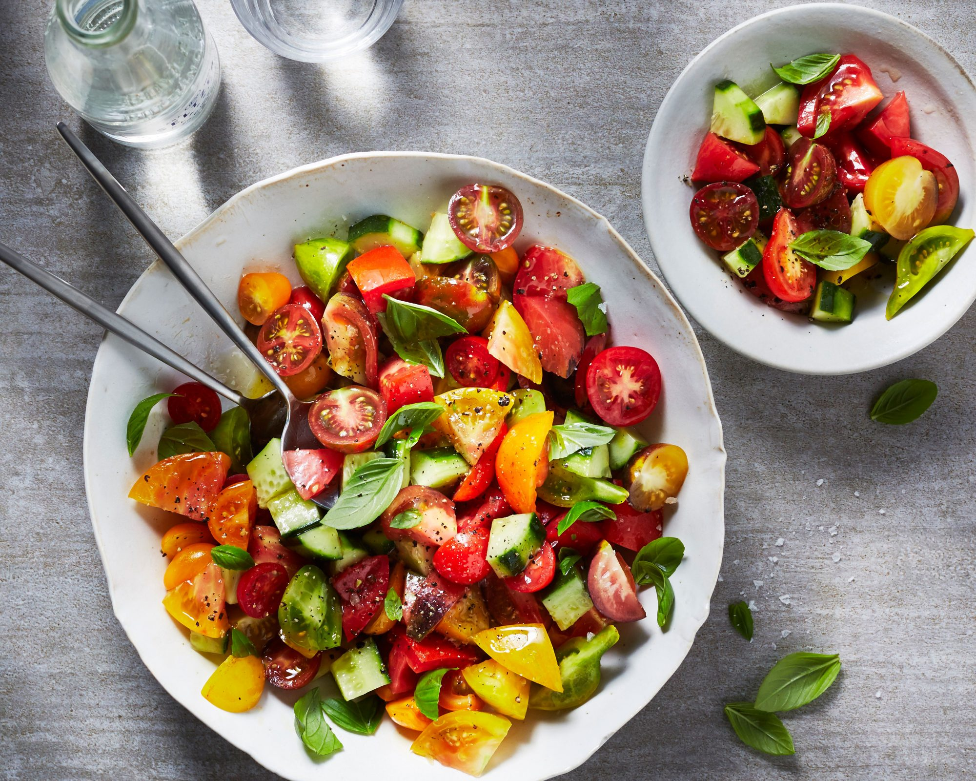 Tomato, Cucumber, and Basil Salad