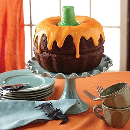 boo-tiful pumpkin cake recipe | myrecipes