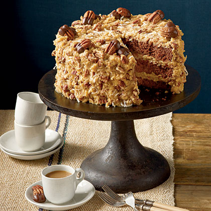 German chocolate cake recipe box