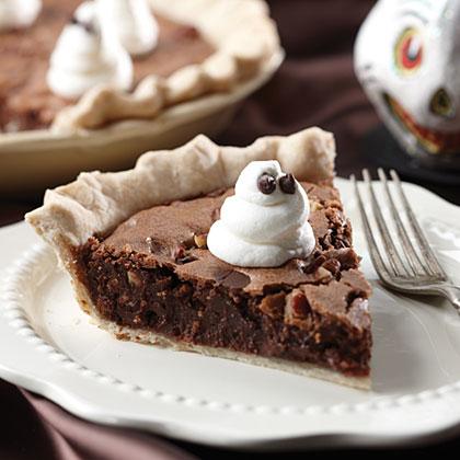 Ghost-Topped Fudge Pie Recipe