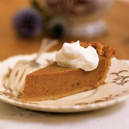 Classic Pumpkin Pie RecipeRefrigerated pie dough makes this classic pumpkin pie recipe simple to prepare.  This lightened version features egg whites in place of some of the whole eggs and low-fat evaporated milk, but still has the brown sugar and spices you expect from a pumpkin pie.
