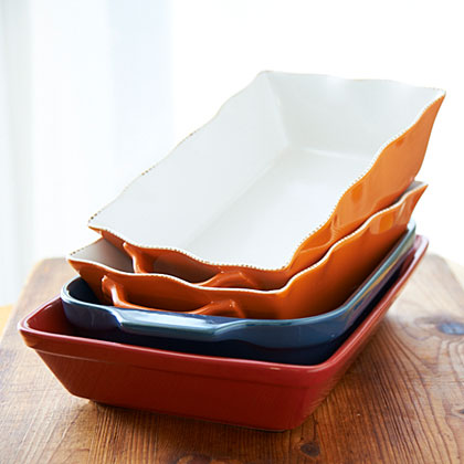 Stacked Casserole Dishes