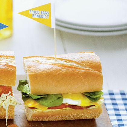 Eggs Benedict Sandwiches