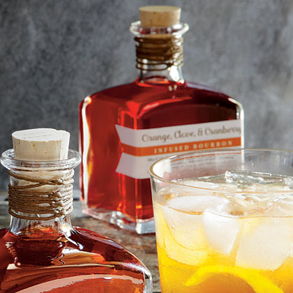 Orange-, Clove-, and Cranberry-Infused Bourbon