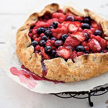 Summer Berry-and-Hazelnut Galette