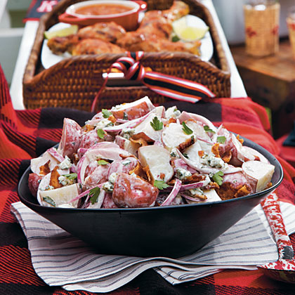 Grilled Blue Cheese-and-Bacon Potato Salad