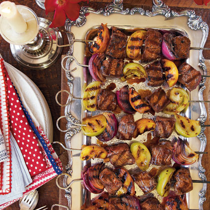 Molasses-Balsamic Steak Kabobs