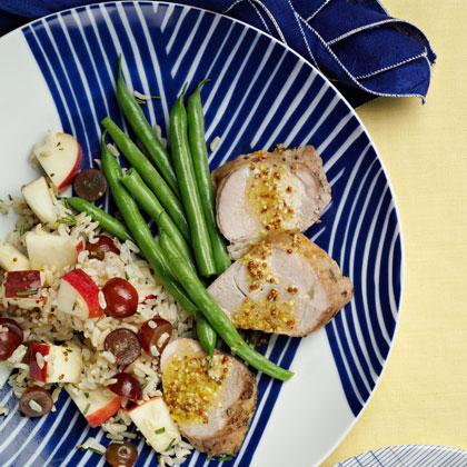 <p>Brown Basmati Rice and Roast Pork Tenderloin</p>