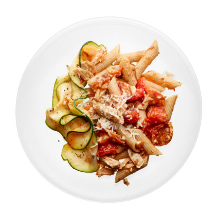 <p>Penne with Tuna and Fresh Tomato Sauce</p>