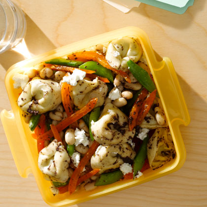 <p>Tortellini Tapenade Salad</p>
