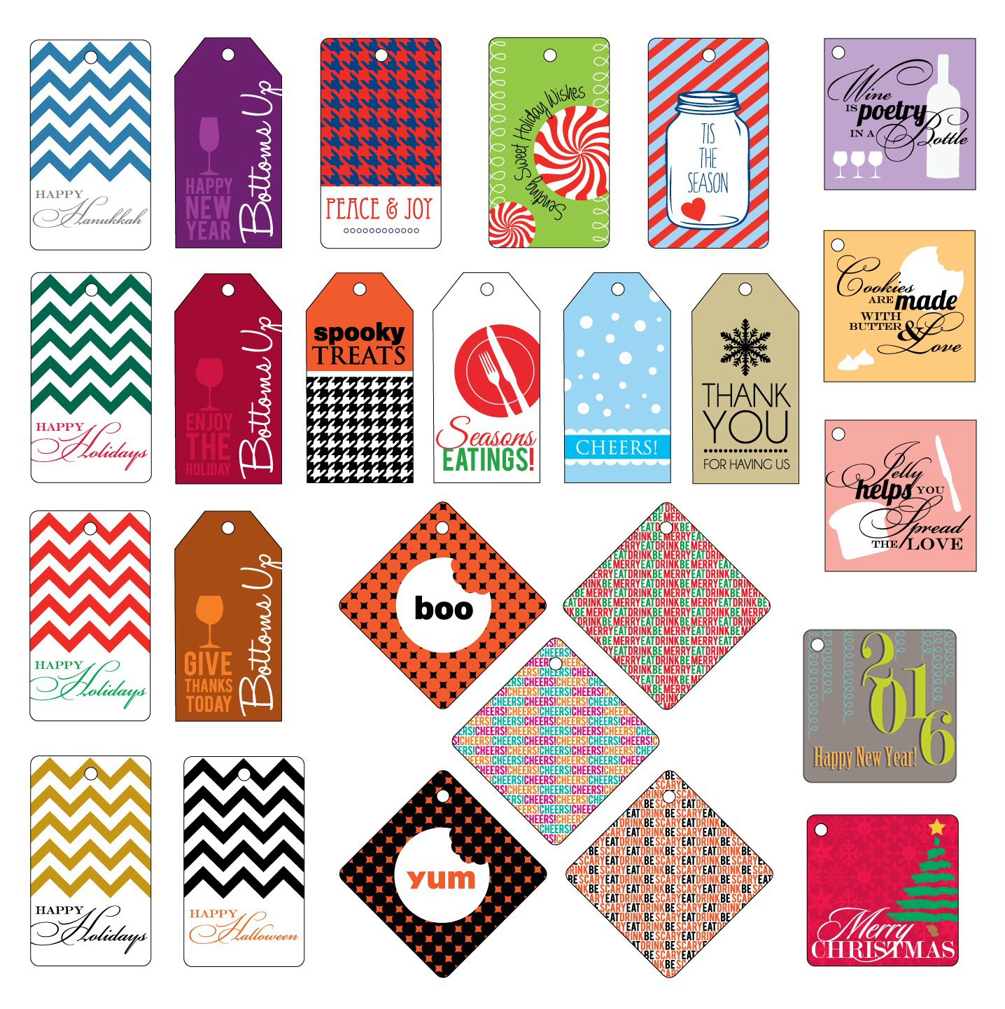 25 holiday gift tags myrecipes 25 free holiday gift tags negle Images