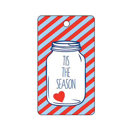 Holiday Gift Tag - Tis the Season Jar