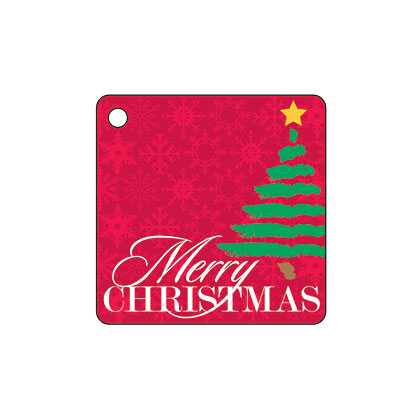 Holiday Gift Tag - Merry Christmas Tree