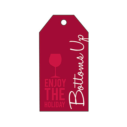 Holiday Gift Tag - Holiday Bottoms Up