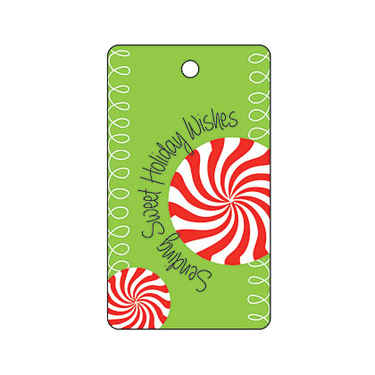 Holiday Gift Tag - Peppermint Holiday