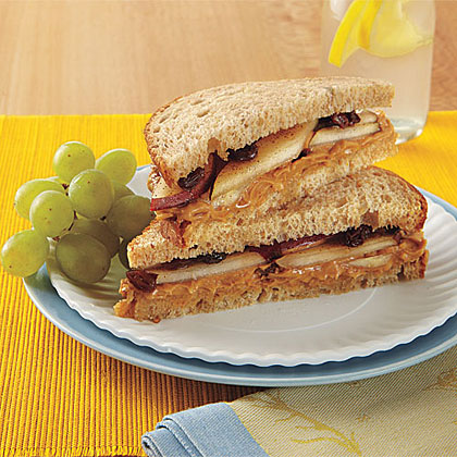 Peanut Butter and Pear Sandwiches