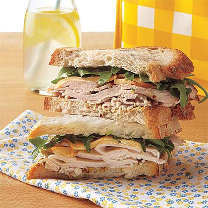 Smoked Gouda, Turkey and Arugula Sandwiches