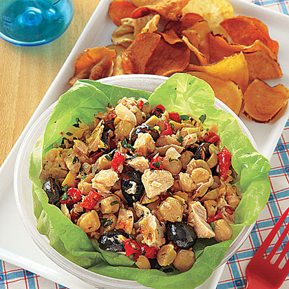 Tuna, Chickpea and Red Pepper Salad
