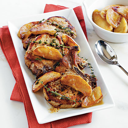 Pork chops and cider recipes